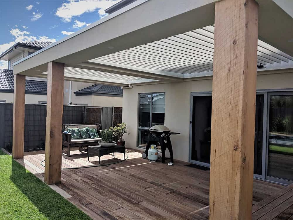 outdoor roof louvred Melbourne