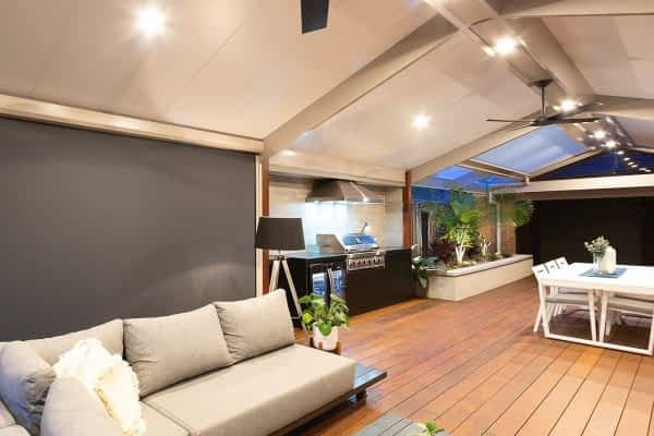 Gabled Outdoor Room - Insulated and Ultimate Louvre with deck, blinds, kitchen - Melbourne