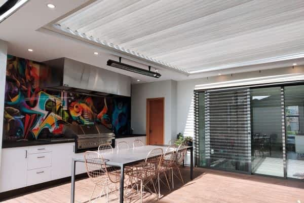 Ultimate Louvre outdoor room with kitchen and deck- Mt Waverley