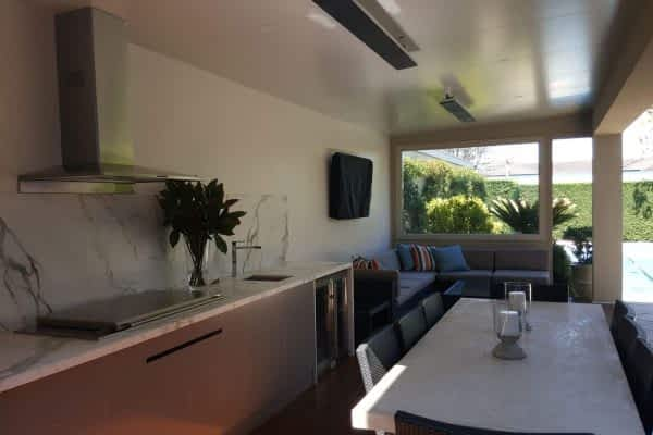 Outdoor Room - insulated roof, rendered walls, kitchen, TV, Heating - East Brighton