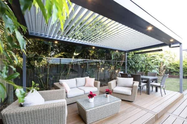 Ultimate Louvre Pool Patio - with trex decking - Melbourne